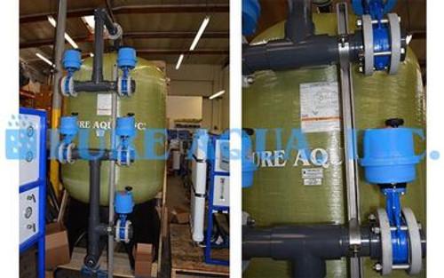 وحدات التناضح العكسي الصناعية للمنتج 2X 95000 GPD - غينيا