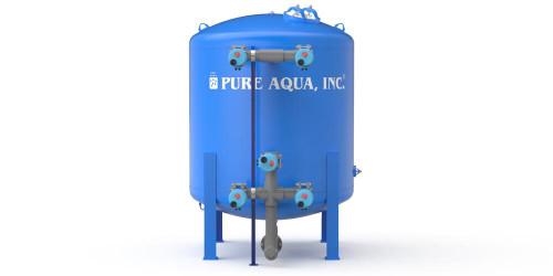 فلاتر ترشيح المياه العميق متعددة الوسائط الصناعية فى خزان صلب