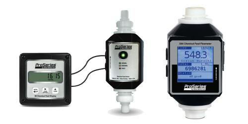 مقياس تدفق التغذية الكيميائية S6A الأزرق والأبيض