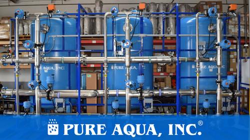 أجهزة إزالة عسر المياه الصناعية ٤٠٠ جالون في الدقيقة   كاليفورن