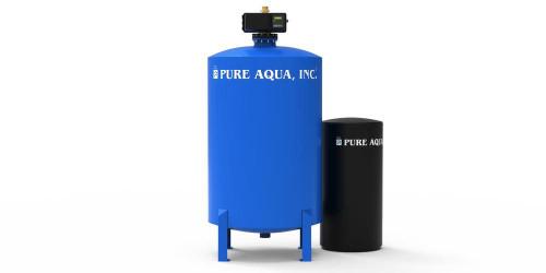 أجهزة إزالة عسر المياه التجارية مع صمام فليك