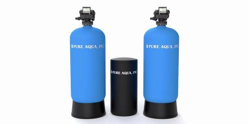 أجهزة إزالة عسر المياه التجارية مع صمام أوتوترول