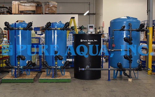 نظام فلتررملي و جهاز سوفتنرلإزالة التكلس من الماء 80 جالون في الدقيقة - سيريلانكا