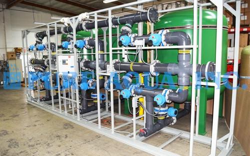 نظام فلترة ثلاثي لإزالة الحديد 800 جالون بالدقيقة - الولايات المتحدة