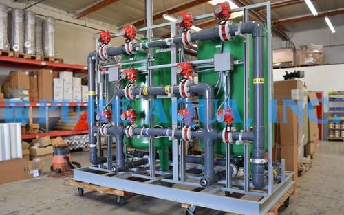 نظام فلترة ثنائي لتقليل الحديد 42 بوصة مثبت على إطار 100 جالـون في الدقيقة - الولايات المتحدة