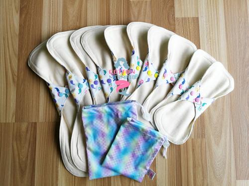 Organic cloth pads starter kit