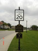 Smooth Round Pole, Acorn Finial, Traffic sign with Backer and Routed Aluminum Blanks with applied vinyl graphics. To request a quote, please include dimensions specific to your project.