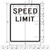 Speed Limit Sign, dimensions