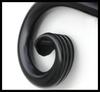 Close up of decorative ornamental banner bracket