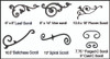 Cast aluminum decorative accents in flowers, vines and C scrolls.