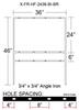 """X-FR-HF-2436-BI-BR (3/4"""" ANGLE IRON)"""