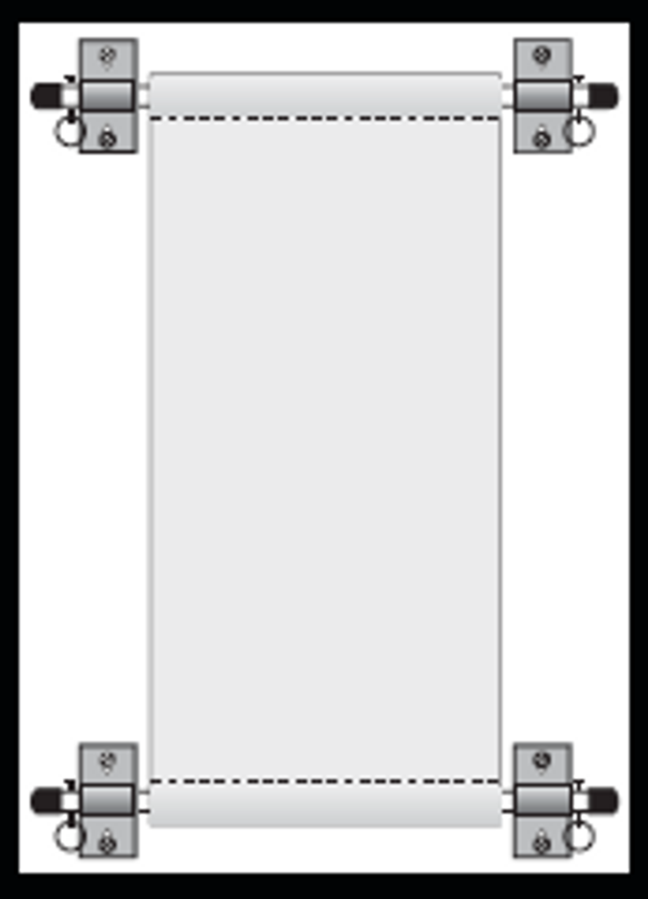 Paralell Wall Mount Banner Bracket Illustrated Assembly