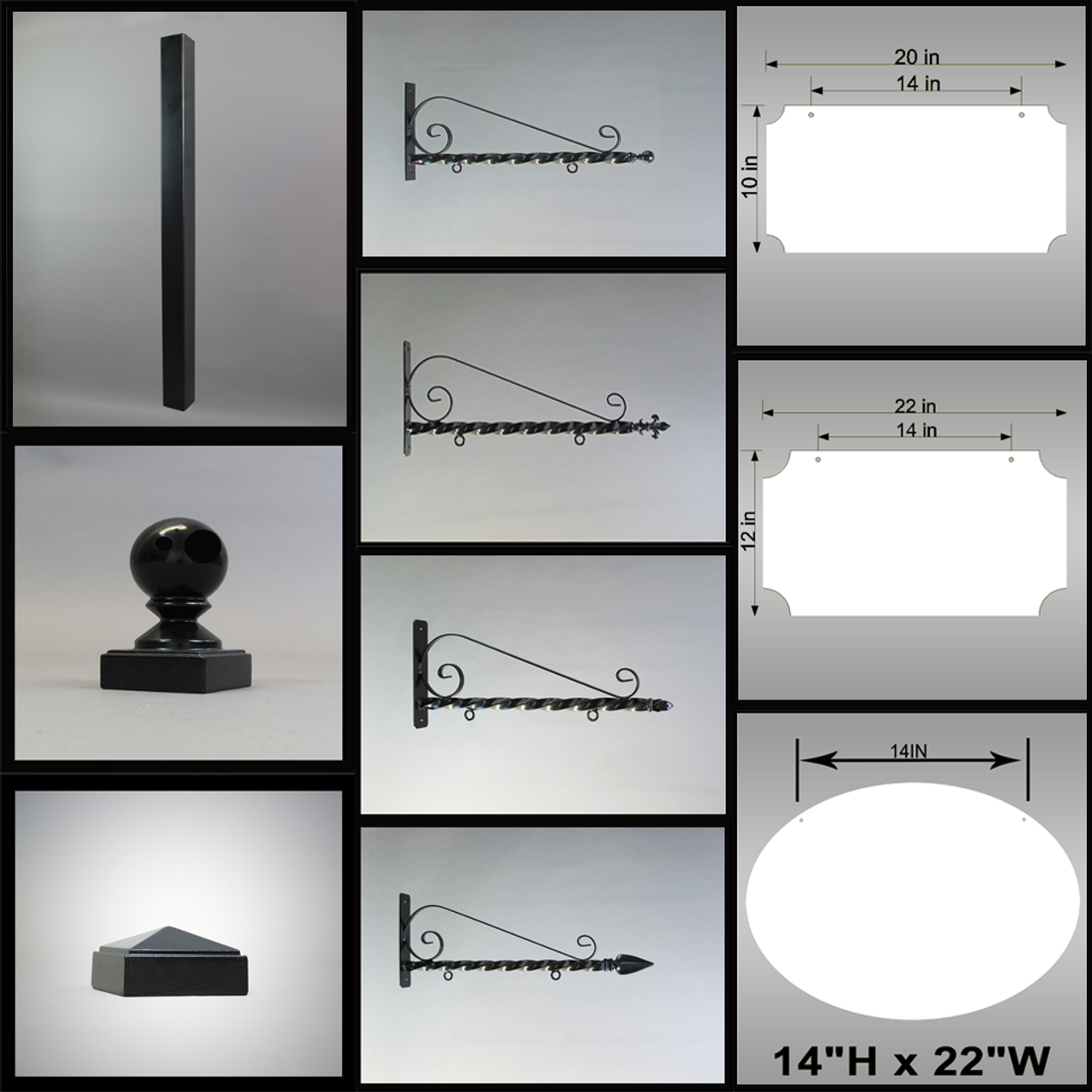 """Assorted components for BUILD-IT 2"""" POST DISPLAY, choose from components selection on menu to create your sign display."""