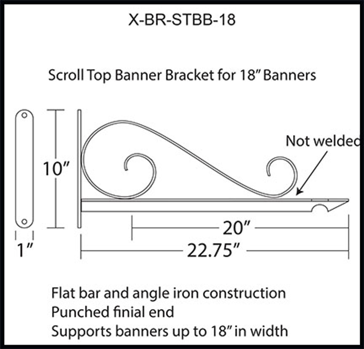 X-BR-STBB-18 SPECIFICATION DRAWING