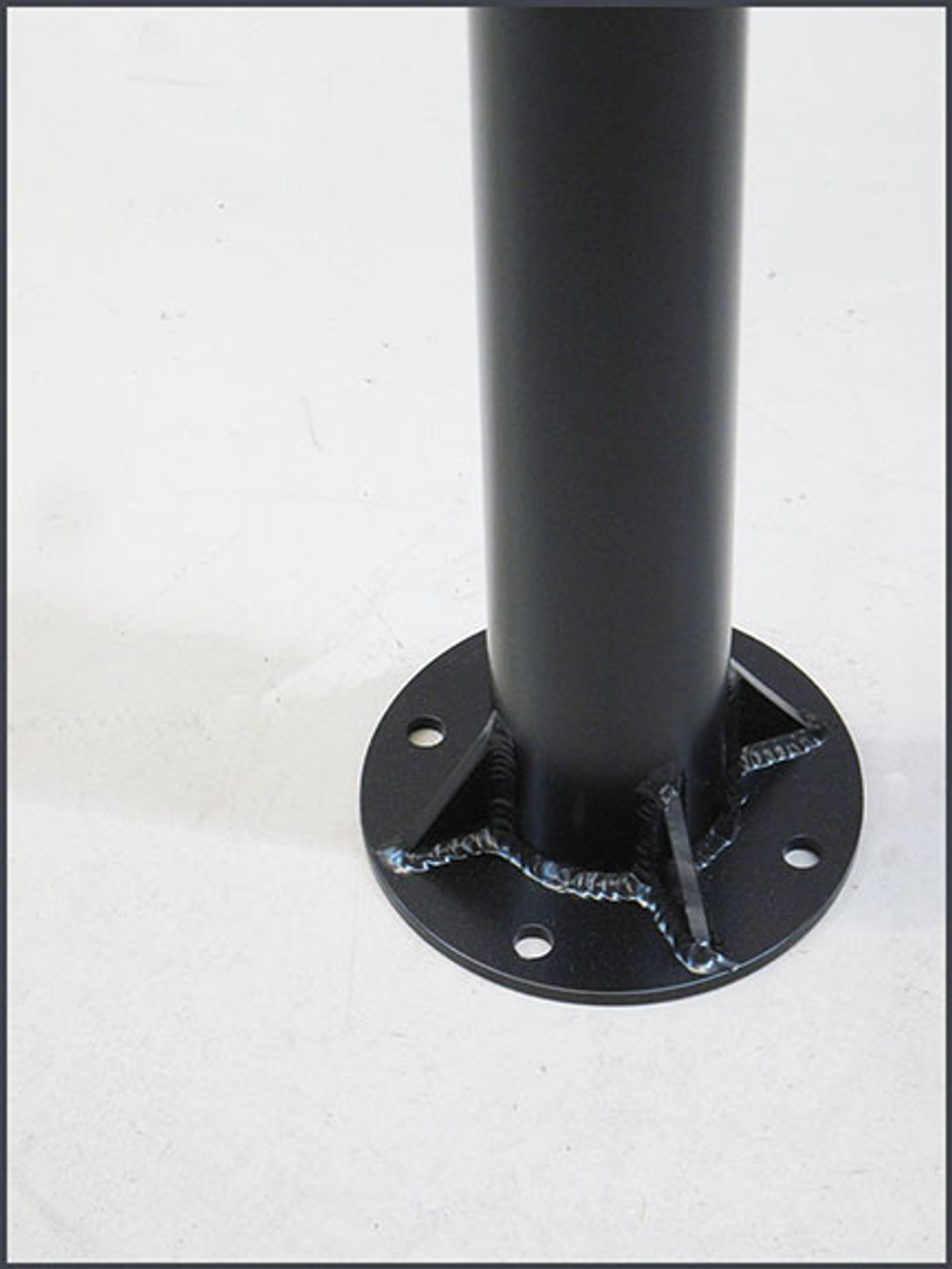 "WELDED plate to bottom of 3"" round pole (ORDER POLES SEPARATELY)"