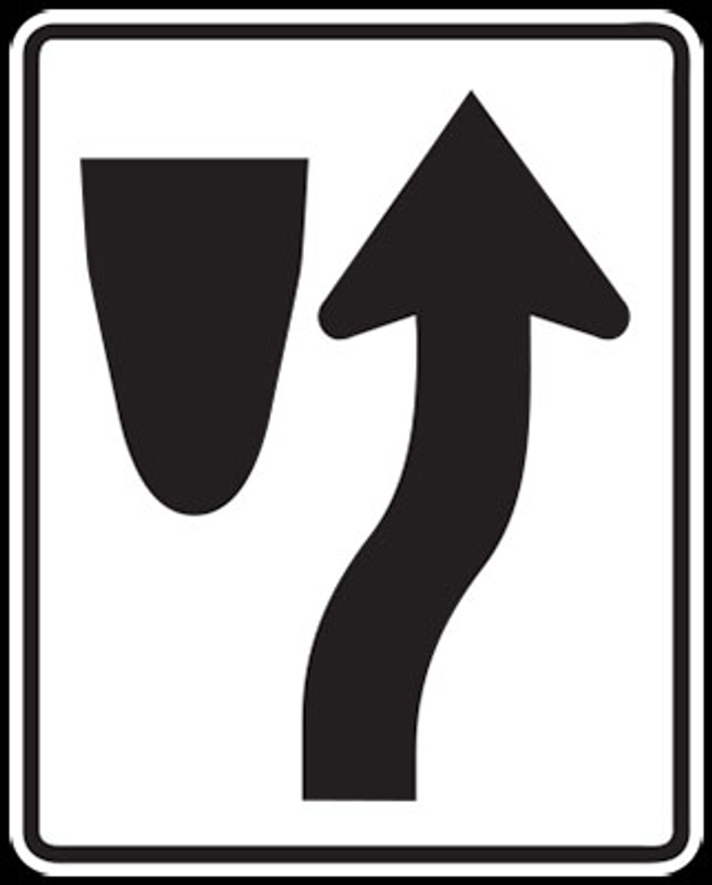 Median Keep Right (Roadway Sign)