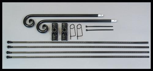Ornamental Banner Bracket KIT for round poles