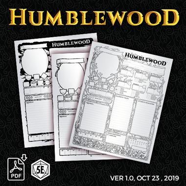 Humblewood Character Sheets 1.0 PDF