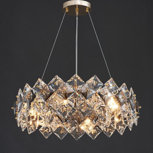 Scale Crystal Round Chandelier 6 Lights