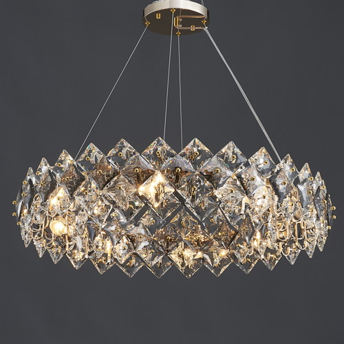 Scale Crystal Round Chandelier 8 Lights