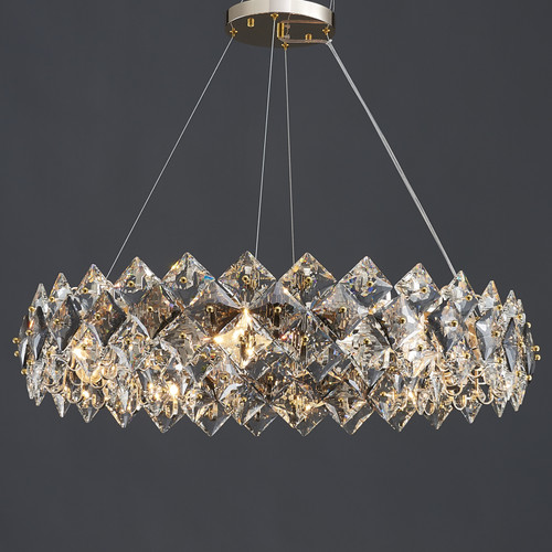Scale Crystal Round Chandelier 12 Lights