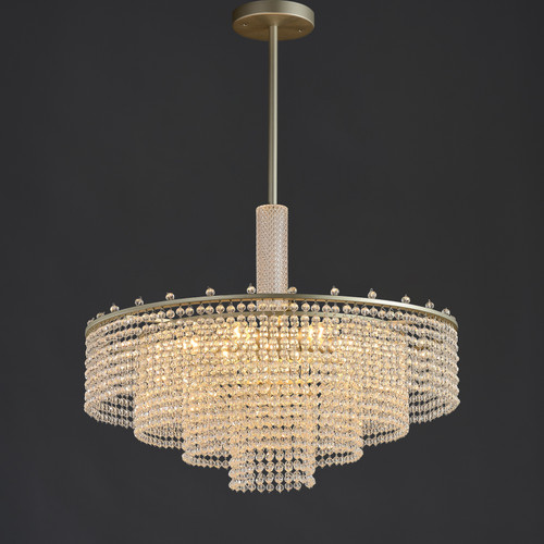 Pineapple Crystal Round Chandelier 6 Lights