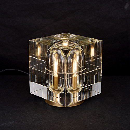 Ice-I Crystal Table Lamp Brass