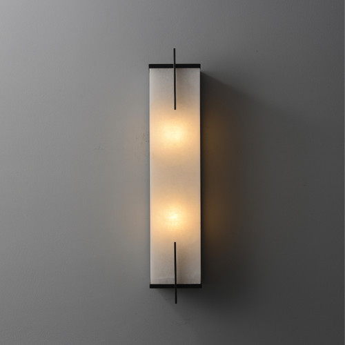 Rectangular Marble Wall Sconce 2 Lights