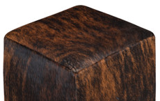 Dark Brown Brindle Cowhide Cube
