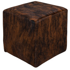 Stunning Dark Brown Brindle Cowhide Cube