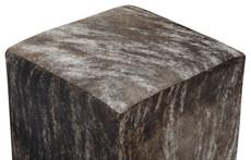 Grey Brindle Cowhide Cube