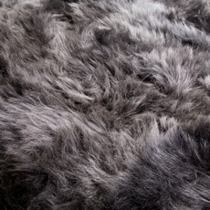 Mid Grey Single Sheepskin Rug