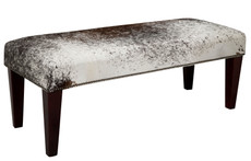 4ft x 1.5ft Cowhide Footstool / Ottoman FST615
