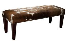 4ft x 1.5ft Cowhide Footstool / Ottoman FST617