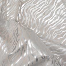Silver Metallic Zebra Cowhide Rug SZEB001 (230 cm x 185cm)