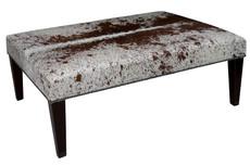 4ft x 3ft Cowhide Footstool / Ottoman FST102