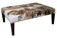 4ft x 3ft Cowhide Footstool / Ottoman FST109