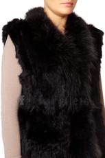 Black Rabbit and Fox Fur GiletBlack Rabbit and Fox Fur Gilet