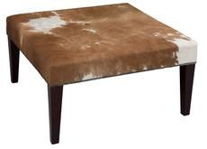 3ft x 3ft Cowhide Footstool / Ottoman FST26