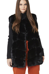 Luxury Faux Fur Gilet in Black