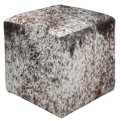 Stunning Brown and White Speckled Cowhide Cube