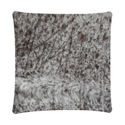 Brown & White Cowhide Cushion