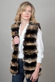 Multicoloured Faux Fur Gilet