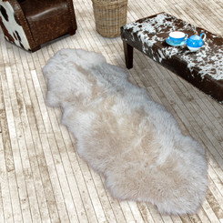 Oyster Double Sheepskin Rug