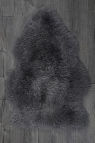 Mid Grey Single Sheepskin Rug