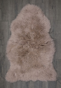 Light Taupe Single Sheepskin Rug