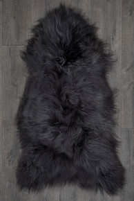 Icelandic Slate Grey Single Sheepskin Rug