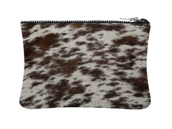 Brown & White Cowhide purse