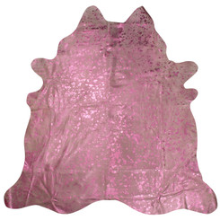 Purple Metallic Cowhide Rug P