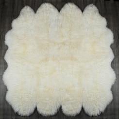 White Octo Sheepskin Rug